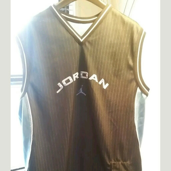 aae1604a17e9 Jordan Other - JORDAN Reversible Tank Top Jersey Blue V Neck Mesh